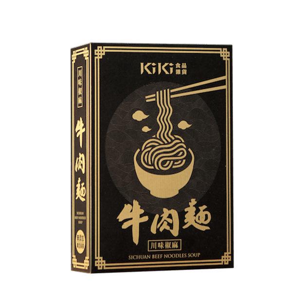 kiki食品雜貨 川味椒麻牛肉麵(牛肉調理包450g+麵條80g)