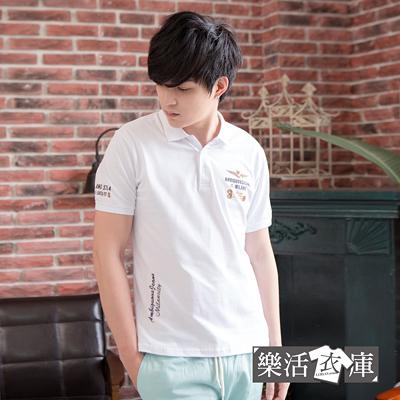 【JS7018】型男注目勳章網眼棉質短POLO衫(共三色)● 樂活衣庫