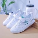 童鞋兒童小白鞋女童鞋子魔術貼男童新款春季白色運動鞋親子鞋