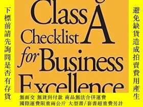 二手書博民逛書店The罕見Oliver Wight Class A Checklist For Business Excellen