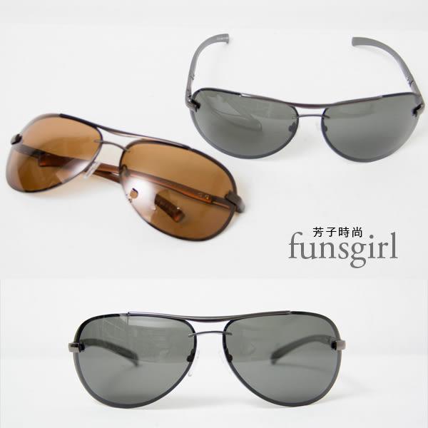 抗UV400復古雷朋金屬邊框太陽眼鏡墨鏡-2色~Funsgirl芳子時尚