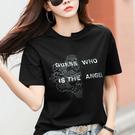 M-3XL大碼女裝~短袖T恤~3357印...
