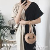 手拎包網紅潮韓國小眾包包女圓形復古手提包  时尚教主
