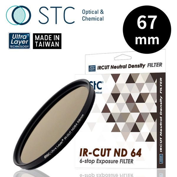 【STC】IR-CUT ND64 (6-stop) Filter 67mm 零色偏ND64減光鏡