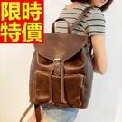 男女皮革後背包雙肩包明星同款大容量-優質精美時髦英倫風韓國包包2色61w8【巴黎精品】
