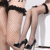 情趣睡衣 極致魅惑!立體荷葉網紗花邊性感大腿網襪﹝黑﹞ 情趣用品