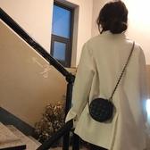 夏季黑色鏈條小包小清新斜背包包女小ck百搭可愛網紅小黑包小圓包 時尚芭莎
