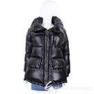 Woolrich Aliquippa 立領脖圍黑色開叉側釦防水面料羽絨外套(男/女可穿) 2010045-01