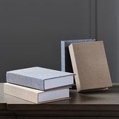 擺件 歐米娜新中式書架假書裝飾書仿真書素色麻布道具書家用擺設 - 古梵希