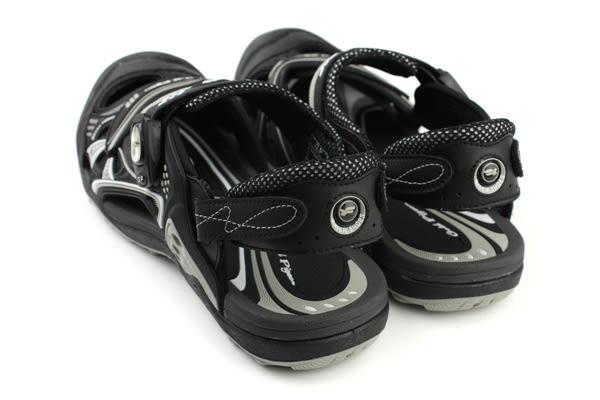 GP (Gold.Pigon) 阿亮代言 涼鞋 防水 雨天 護趾 前包式 黑色 男鞋 G7643M-10 no795