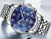 【新年鉅惠】 2018新款手錶男士全自動機械錶運動石英學生防水時尚夜光鋼帶腕錶