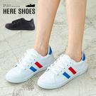 [Here Shoes]休閒鞋-MIT台灣製 跟高2.5CM 流行百搭 學生必備款布鞋 百搭小白鞋-KJ18091