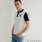 【GIORDANO】男裝冰山刺繡彈性POLO衫 - 04 標誌白
