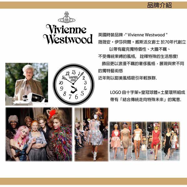 【萬年鐘錶】 Vivienne Westwood  英國 鏤空時標皮革腕錶  金色  33mm  VV055PKTN