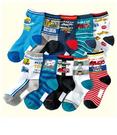 【韓風童品】(10雙/組)超優品質車車圖案中大男襪 男童襪子 兒童短筒襪子