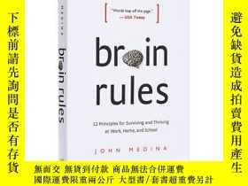 二手書博民逛書店大腦法則罕見[英文原版]Brain Rules (Updated