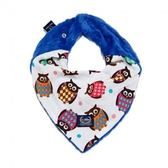 La Millou 豆豆圍兜領巾-華麗貓頭鷹(加勒比海藍)
