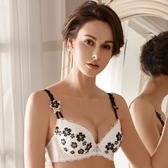 LADY 藏愛星影系列 刺繡深線內衣 B-F罩(時尚白)