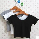 T恤 韓版短款性感露臍短袖高腰女半袖夏短裝漏肚臍上衣