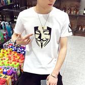 短袖T恤 夏季男士圓領純色打底衫上衣夏裝男裝《印象精品》t34