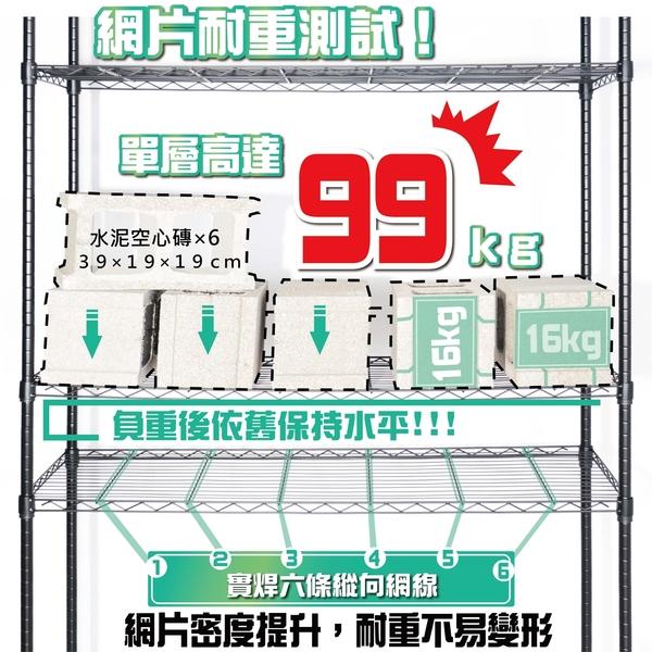 烤漆黑 - 鐵力士架 波浪架 122x45x180cm五層置物架-波浪架  收納架  收納櫃【旺家居生活】