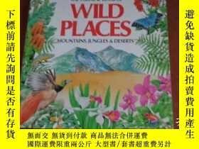 二手書博民逛書店THE罕見USBORNE BOOK OF WILD PLACES: MOUNTAINS, JUNGLES & DE