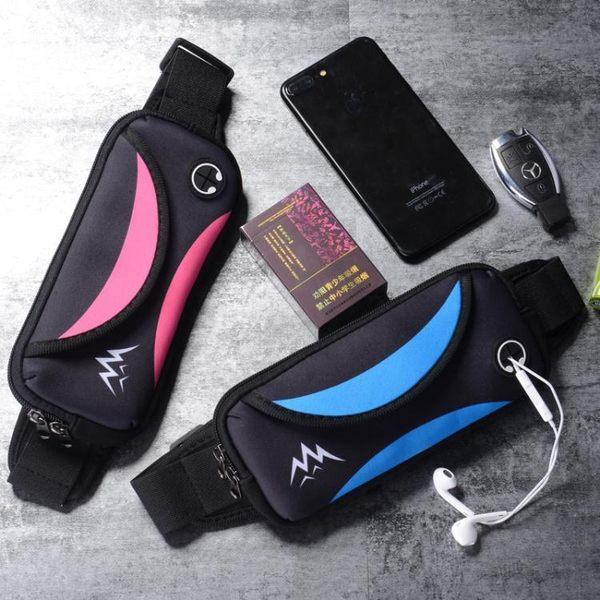 腰包 新款時尚運動手機腰包男女跑步手機包多功能迷你防水音樂錢包貼身