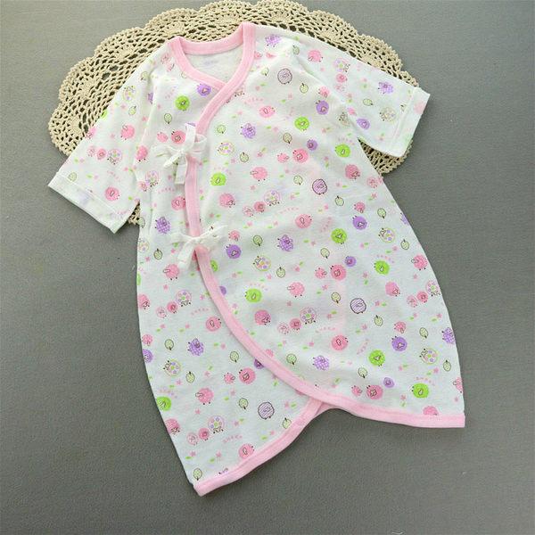6月特價 純棉 蝴蝶衣 夏季薄款 新生兒服 連身衣 包屁衣 (50-70碼) 紗布衣 兔裝 嬰兒服 【GB0020】