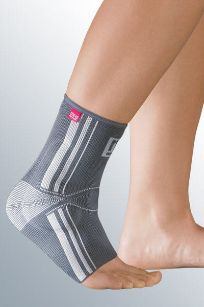 medi 專業醫療護具 多功能矽膠墊護踝-銀色 (I~VI號,單只) 德國進口【杏一】