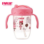 【FARLIN】兒童吸管學習水杯(240ml)(咕嚕咕嚕杯/焦)