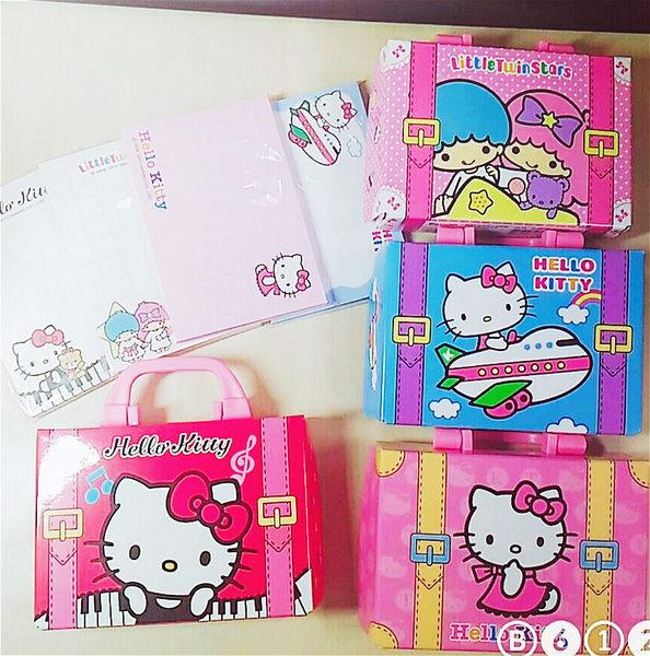 kitty雙子星便條紙留延紙行李箱造型盒裝組凱隨機963312霜823791通販屋