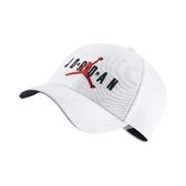 Nike 帽子 Jordan Jumpman Legacy91 Air Cap 白 紅 男女款 喬丹 棒球帽 【PUMP306】 CK1248-100