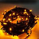 100燈LED燈串聖誕燈 (黃光黑線)(...