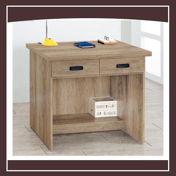 【多瓦娜】古橡木3尺二抽書桌 21050-454245966