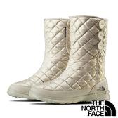 【THE NORTH FACE 美國】女 防潑水保暖中筒雪鞋『GZ3 灰白』NF0A2T5K 防滑鞋底.雪地靴.賞雪.滑雪