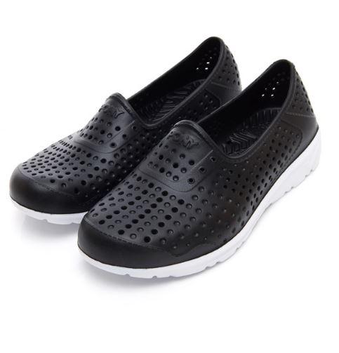 PONY 中性款黑色洞洞水鞋TROPIC-NO.92U1SA04BK