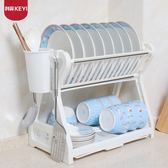 碗架雙層碗碟架廚房置物架廚房用品用具瀝水碗架碗櫃碗筷 Igo 貝芙莉女鞋