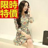 洋裝-長袖簡約迷人高雅韓版連身裙3色59m30[巴黎精品]