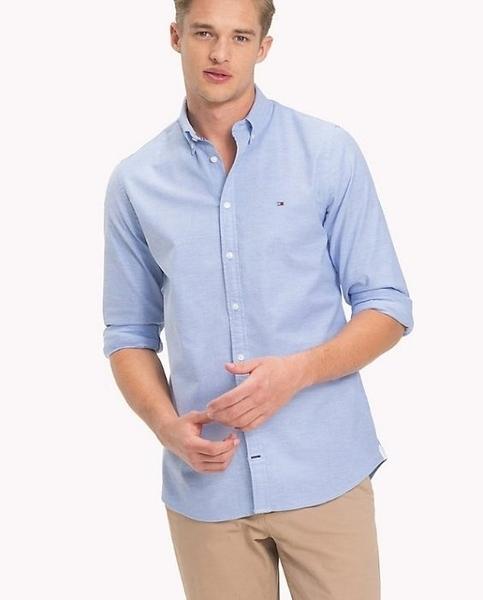 美國代購 Tommy Hilfiger 二種顏色 修身 彈性材質 牛津襯衫 (XS~2XL) ㊣