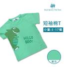 男童蘋果綠恐龍棉T恤 短袖上衣 [7568] 小童 春夏 童裝 RQ POLO 5-17碼 現貨