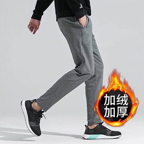 保暖長褲男 ER加絨加厚褲冬季寬鬆彈力休閒運動褲加絨加厚保暖男士長褲實惠舒