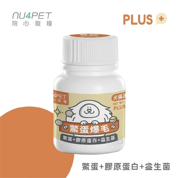 [2罐組] 陪心寵糧 NU4PET 陪心機能 PLUS 鱉蛋爆毛粉 35g 犬貓適用 寵物營養品