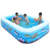 艾高兒童游泳池家用摺疊充氣游泳池嬰兒洗澡玩具大號小孩厚室內T