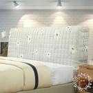 歐式夾棉布藝床頭罩軟包防塵保護套可拆洗定制靠背床頭套JY