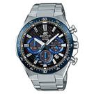 CASIO EDIFICE 碳纖維太陽能計時錶(EQS-800CDB-1B)-藍x50mm
