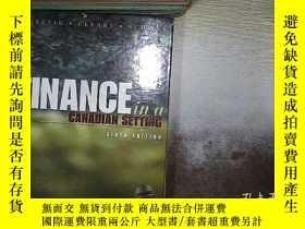 二手書博民逛書店finance罕見in a canadian setting sixth edition 加拿大金融背景第六版