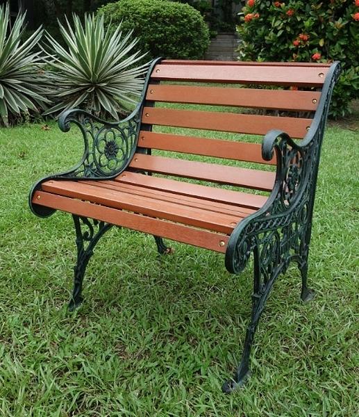 【南洋風休閒傢俱】戶外公園椅系列 - 單人公園椅 鑄鐵公園椅 編織等待椅 木條公園椅 #550