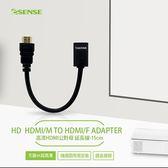 Esense 逸盛 高清HDMI公對母 延長線 15cm 04-HTL015 BK