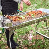 燒烤架 燒烤爐家用木炭不銹鋼燒烤架戶外碳烤肉爐子架子加厚野外全套用具T