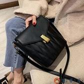 水桶包包女包潮時尚斜背包簡約百搭大容量側背包【淘夢屋】